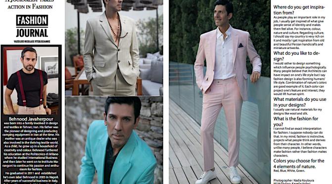 Our Editor-in-chief Vassilios Nicolaos Vitsilogiannis in Moda Dynastie Magazine in Dubai